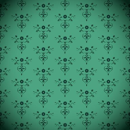 Vector Green Seamless classic Vintage Pattern Stock Vector - 16332412