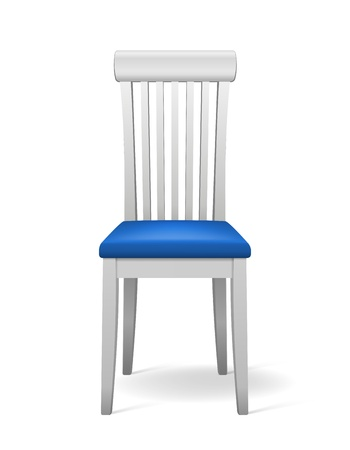 Vector White isolated Chair with blue seat Stock Vector - 16428516