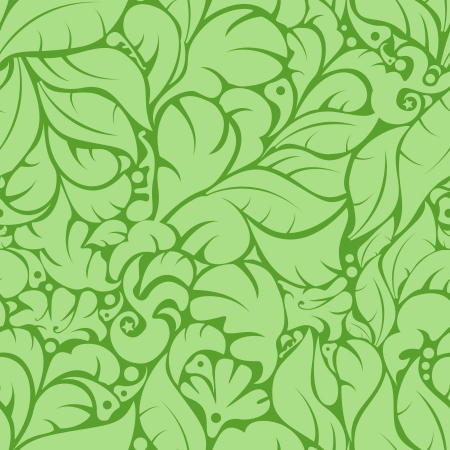 Seamless green floral pattern background  Vector Illustration Stock Vector - 16550328