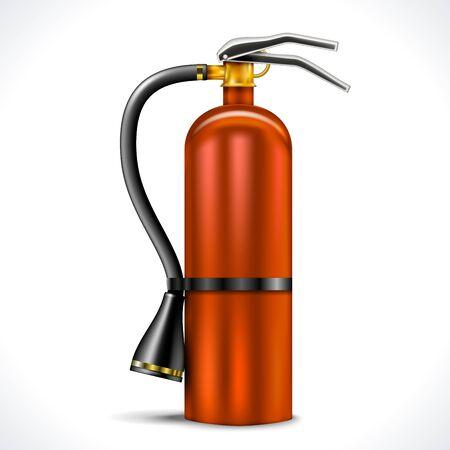 fire extinguisher: Vintage Fire Extinguisher isolated on white background Illustration