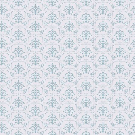 Vector Blue Seamless wallpaper pattern on light background Stock Vector - 16668577