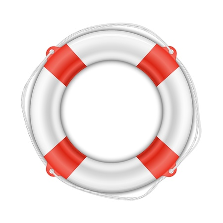 lifebelt: Vector Life Buoy isolated on white background with shadow