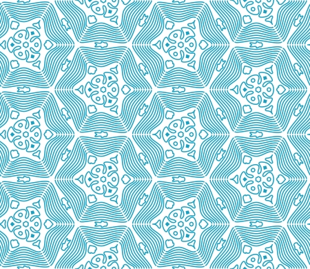 Blue Seamless Monochrome Pattern with waves Stock Vector - 17092589