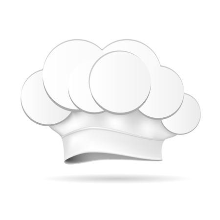 Chef Hat isolated on white illustration Stock Vector - 17092576