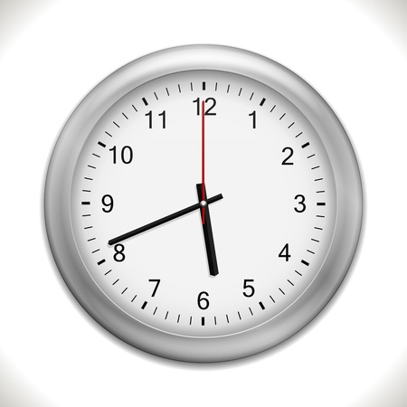 wall Clock isolated on white background Stock Vector - 17092598
