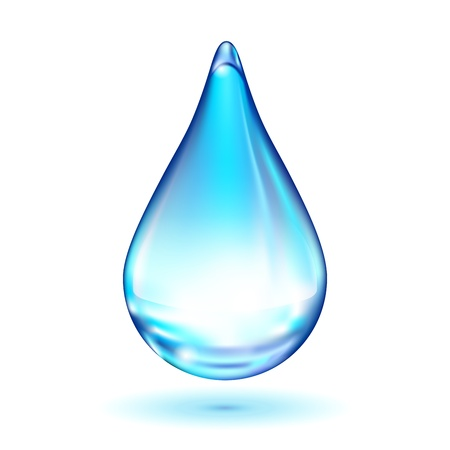 water drop isolated on white background Stock Vector - 17092585