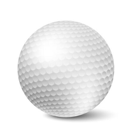 pelota de golf: Vector pelota de golf aislado sobre fondo blanco