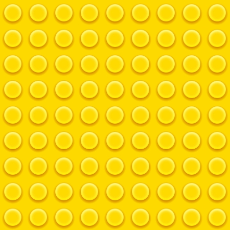 Vector Lego yellow blocks Seamless pattern background
