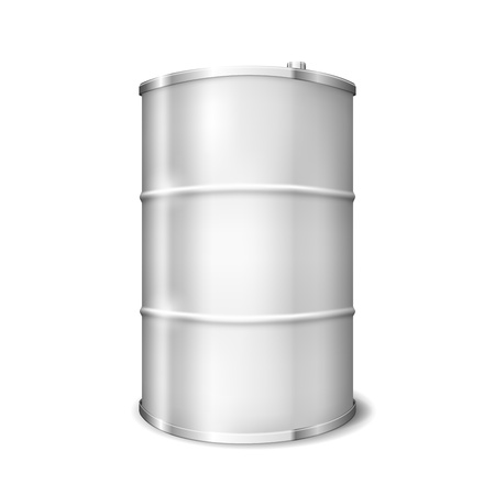Vector Metal barrel over white background Illustration