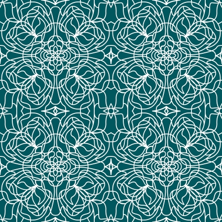 Vector Seamless pattern tiffany on blue background Vector