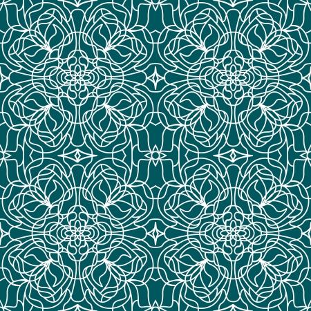 tiffany blue: Vector Seamless pattern tiffany on blue background Illustration