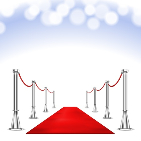 celebrity: Vector Red Carpet isolated on white background