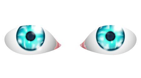 Eyes isolated  isolated on white background Stock Vector - 17315624