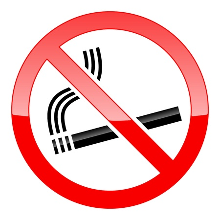 abstain:  No Smoking Sign on white background Illustration