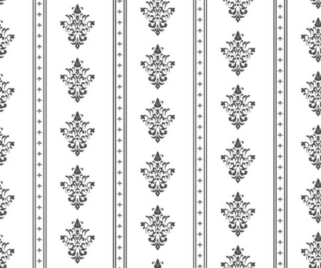Monochrome seamless classic pattern on white background Stock Vector - 17315625