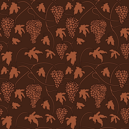 Wine grapes Seamless pattern background Stock Vector - 17315627
