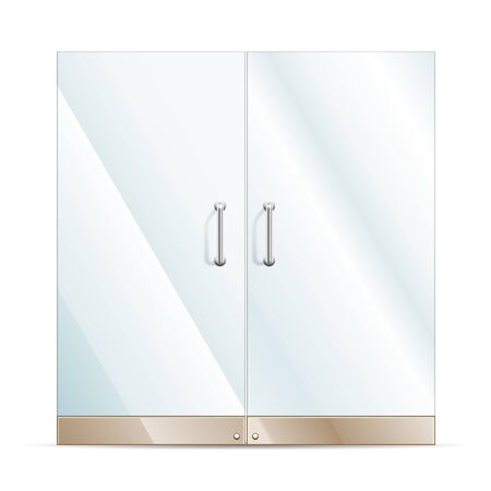 forepart: Vector Transparent Glass door isolated on white  EPS10 opacity