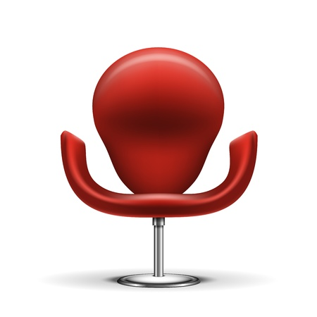Red Modern chair isolated on white background  EPS10 opacity Stock Vector - 17467929