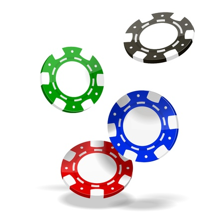 Vector Poker Chips isolated on white background  EPS10 opacity Stock Vector - 17467935