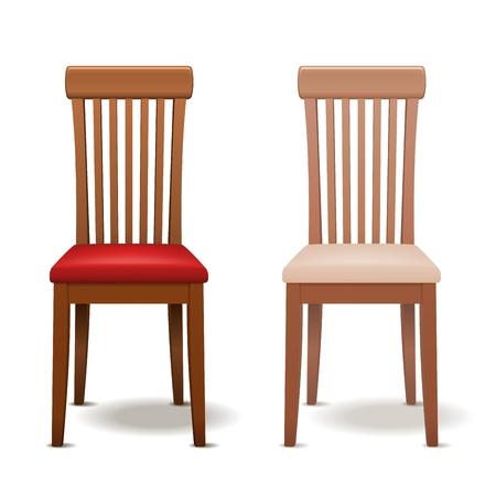 silla de madera: Presidente Vector realista aislado en blanco para el dise�o de opacidad EPS10