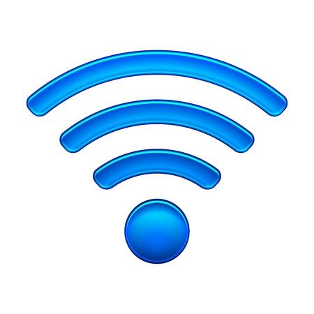 Wireless Network Simbolo wifi icona illustrazione vettoriale isolato su bianco EPS10 modalità