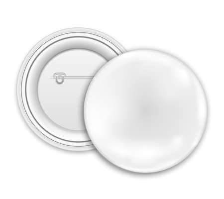 blank button:  Blank button badge isolated on white