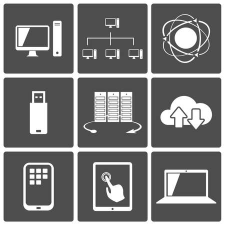 Network and Mobile Connections Icon Set Stock Vector - 17750988