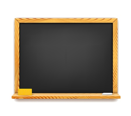 School blackboard background isolated on white