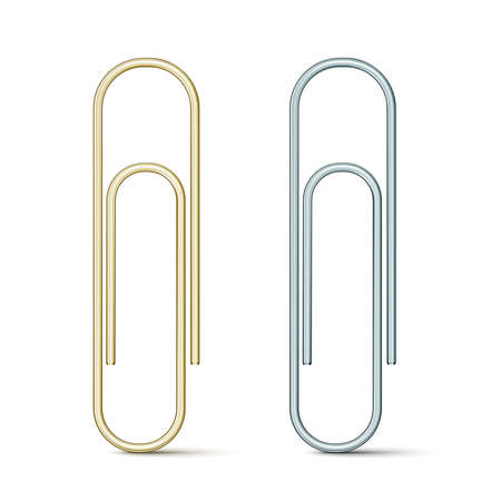 Paper clip icon isolated on white Stock Vector - 17751014