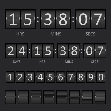 scorebord: Vector Countdown Timer en scorebord Numbers