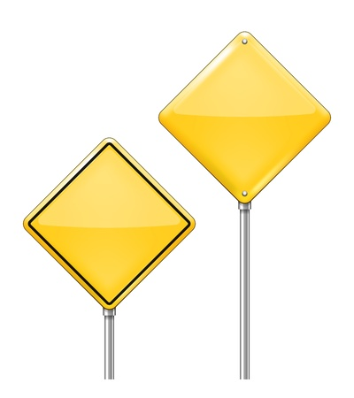 halt: Vector Empty Warning signs isolated on white background Illustration