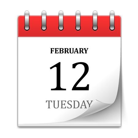 icono de calendario: Vector Calendar Icon aislado en blanco
