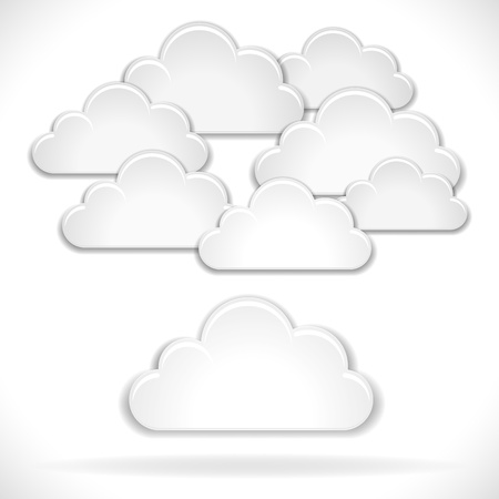 Vector White Clouds isolated on white background Stock Vector - 17905522
