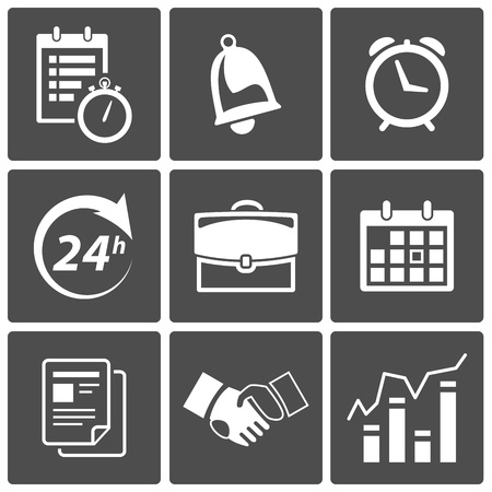 Vector Business Time and scheduling icons Vector