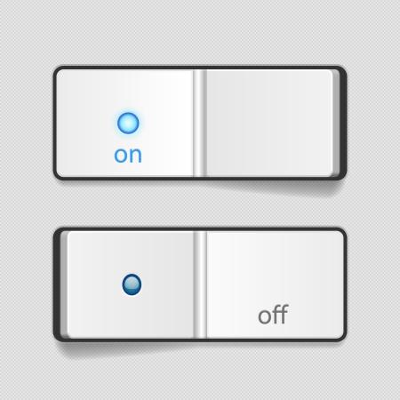 kippschalter: Vector realistische Aus Schalter Icon