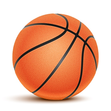 Basketball isolated on a white background  Fitness symbol Stock Vector - 18239898