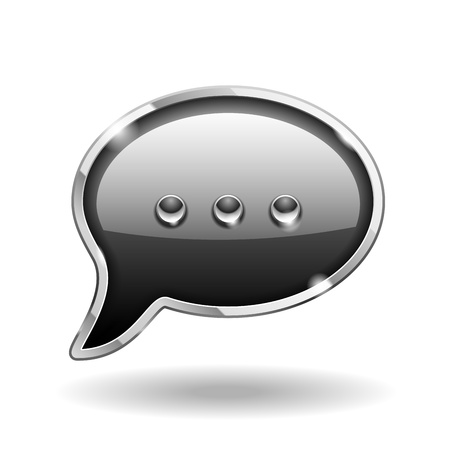 Bubble Talk Icon isolated on white   Sign Vector