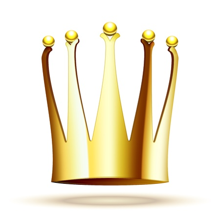 Gold Crown for Princess Isolated On White Background Stock Vector - 18239894