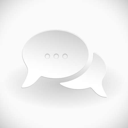 Support Abstract White Background with chat bubbles Stock Vector - 18239881