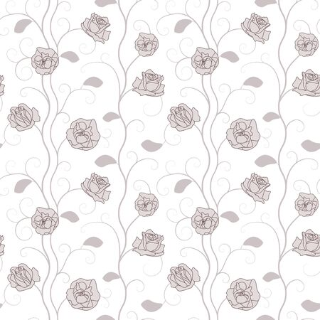 Beautiful Roses Floral Seamless Pattern  Vector Illustration Stock Vector - 18383404
