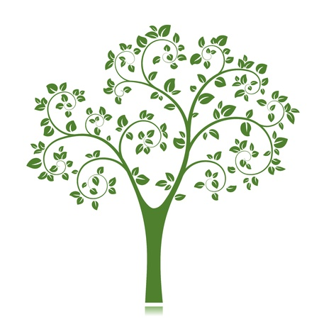Vector Tree Silhouette isolated on white background Stock Vector - 18383394