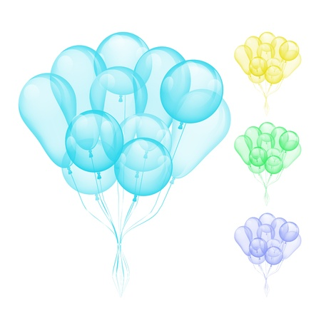 Vector Balloons different colors isolated on white background Stock Vector - 18383417