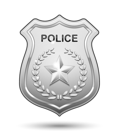 police icon: Vector Police Badge isolated on white background Illustration