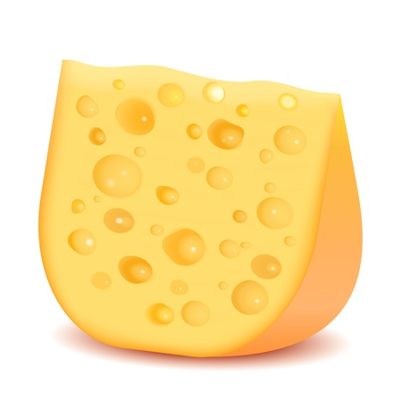 chees: Cheese isolated on white background  Vector Illustration