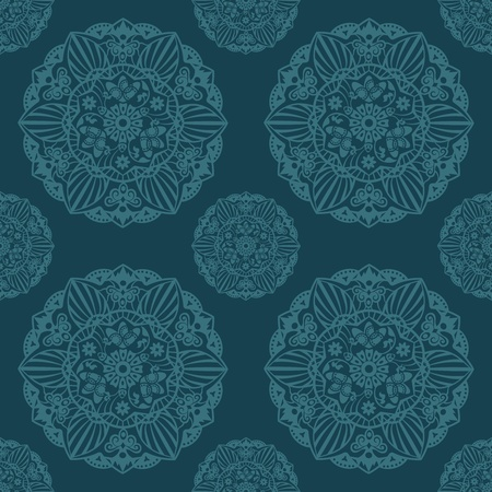 Ornate Mandala seamless texture endless pattern  Vector Illustration Stock Vector - 18543545