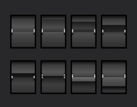 scorebord: Mechanische Panel Change Process Stages Vector Illustratie Stock Illustratie