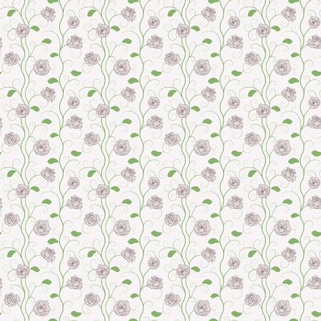 rosen muster: Vector Seamless Soft Color Floral Roses Pattern Background Illustration