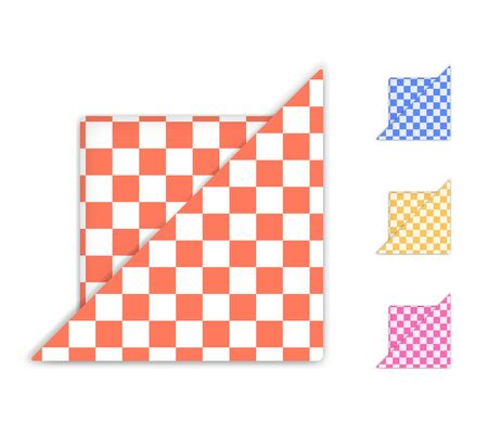 Checkered Napkin isolated on white background   Illustration Stock Vector - 18688494
