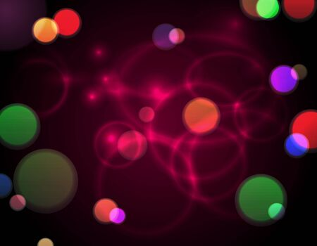 Abstract bokeh lights background on black Stock Vector - 18676058