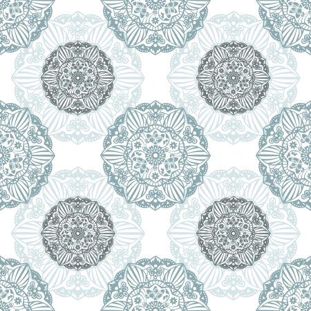Ornate Floral Seamless Texture Pattern with round decor Stock Vector - 18688496